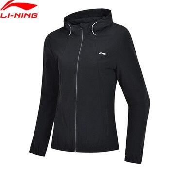 Li-Ning Women Training Windbreaker Slim Fit 86% Polyester 14% Spandex Hooded Fitness li ning LiNing Sports Coat AFDP006 WWF919