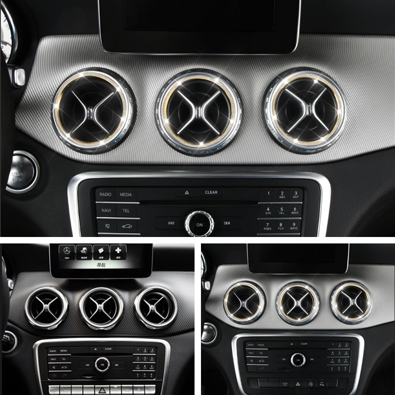 5 pièces autocollant de sortie d'air/tableau de bord anneau de décoration de sortie d'air pour Mercedes Benz classe A classe B/Gla/Cla style de voiture