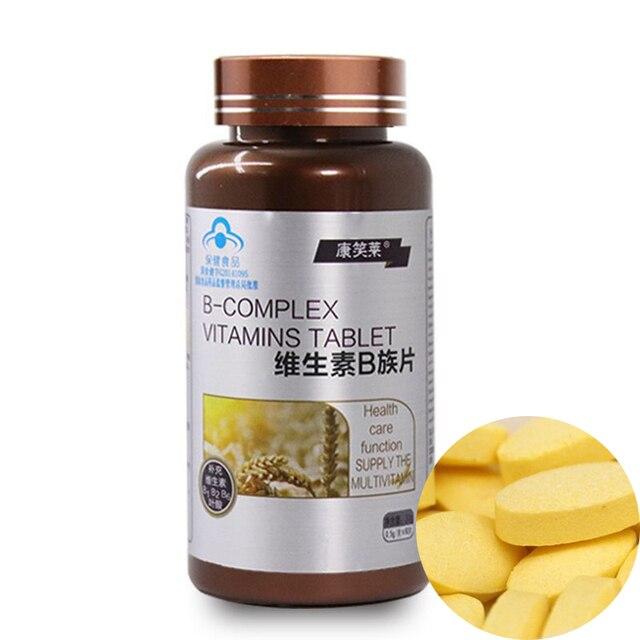 60 adet saf doğal Multivitamin B yetişkin VB, vitamin B1 B2 B6 B12 için yorgunluk rahatlatmak sindirim önlemek saç dökülmesi bakımı saç