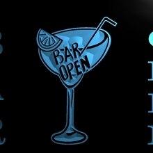 LM031- Bar Open Beer Cocktails Pub Led Light Sign