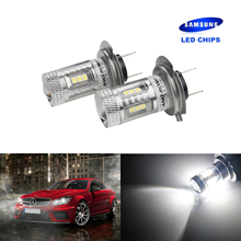 ANGRONG 2X H7 499 LED Bulb High Power 15W HeadLight Main Running Fog Light White
