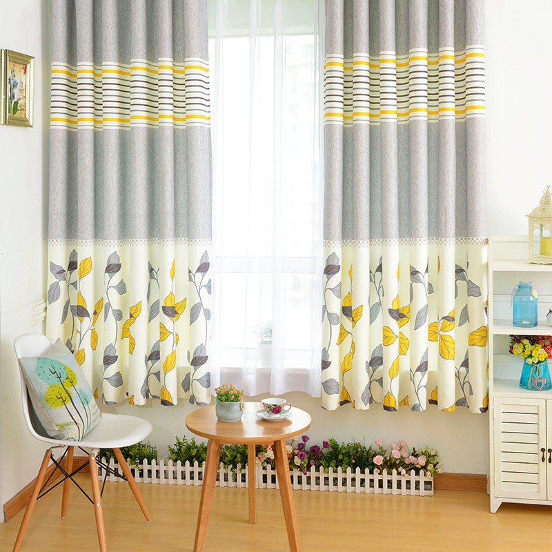 printed short curtains for living room bay window modern window curtains for kitchen cartoon curtains for kids room baby room in curtains from home - Short Curtains For Bedroom