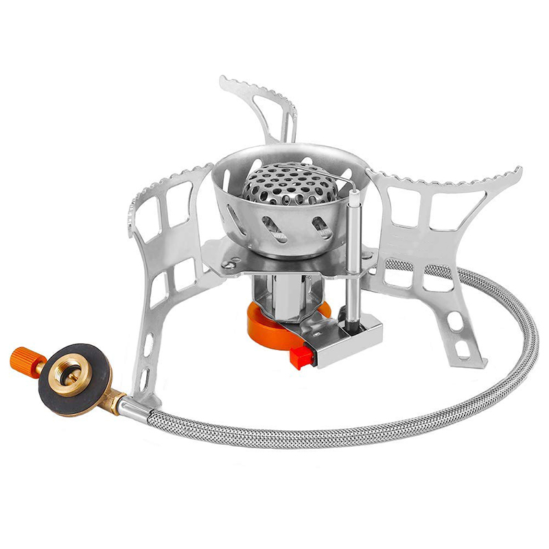 Camping Stove Ultralight Foldable Backpack Stove Burner Windproof Outdoor Portable Small Camping Gas Stove For Outdoor Camping