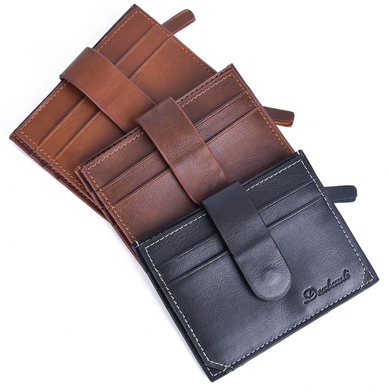 European Creative New Mens Card Bag Fashion Mini Wallet Multi Card Bit Small Coin Bag Large Capacity
