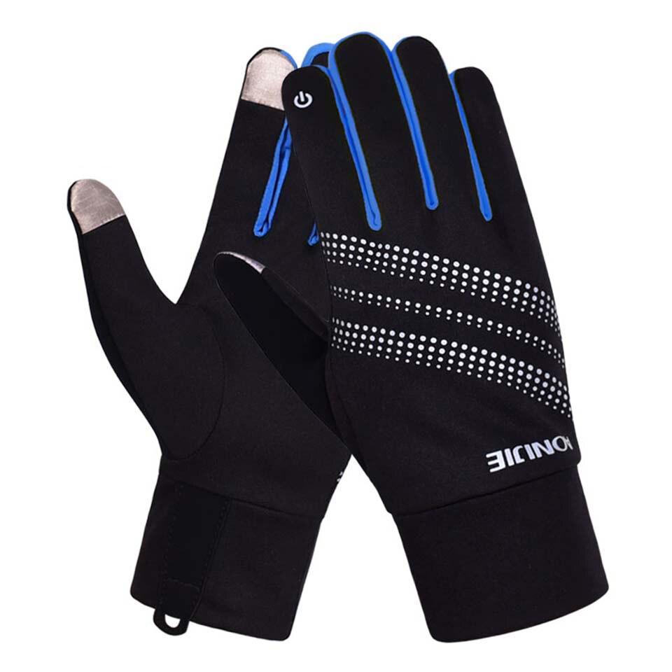 AONIJIE Men Women Winter Sport Gloves Outdoor Running Jogging Camping Cycling Hiking Windproof Thermal Fleece Gloves