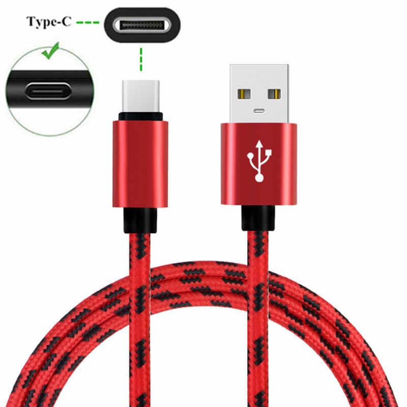 سريعة تهمة نوع C USB كابل الشاحن لسامسونج غالاكسي A30 A50 A70 A7 A5 A3 2017 S10 S9 لهواوي p20 لايت زميله 20 برو 10 9