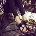 2016 summer women toe sandals  hollow fashion women Rome shoes sandals