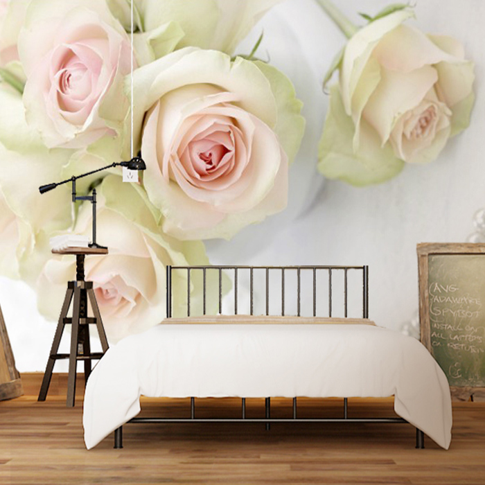 Large Necklace Rose mural 3d wall photo mural Flower Wallpaper for wedding room sofa background 3d wall mural papel de parede large flower blossom floral 3d room modern wallpaper for walls 3d livingroom wall paper mural rolls household papel de parede