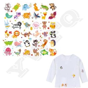 36Pcs/Set Cartoon Animal Patch Iron On Clothes A-Level Washable 2018 New Parches Ropa T-Shirt Diy Decoration Applique