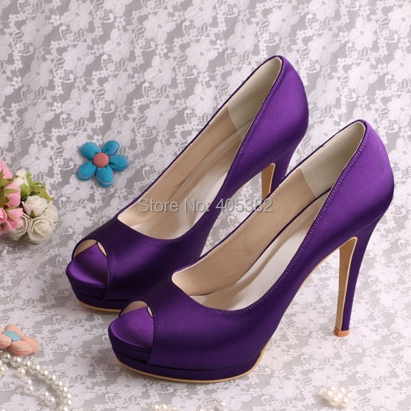 Wedopus Top Quality Customized Large Size Purple Platform Shoes High Heels  Peep Toes-in Women s Pumps from Shoes on Aliexpress.com  55d094f26