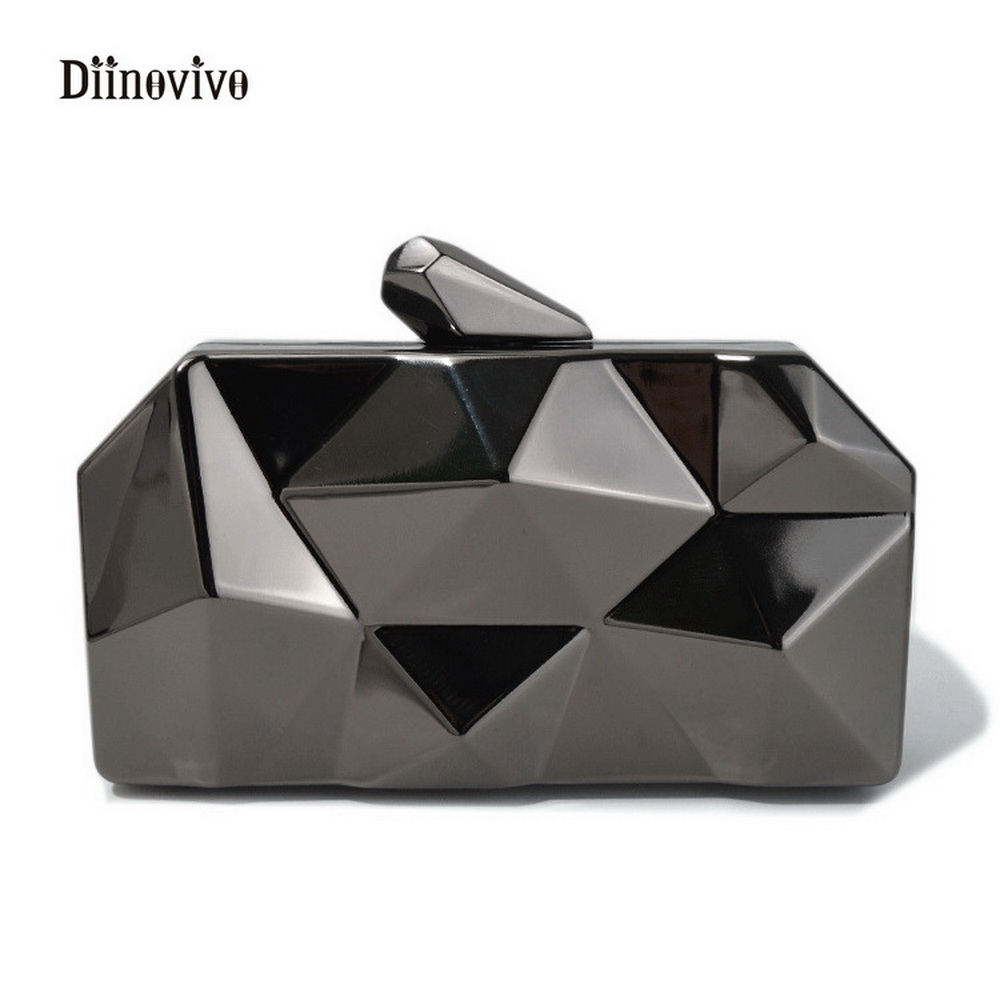 DIINOVIVO New Fashion Luxury Ladies Evening Bags European and Americans Style Clutch Bags Women Shining Hand Bag Purse WHDV0187
