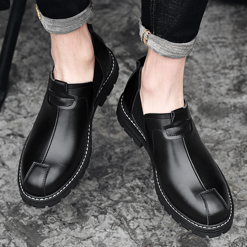 2019 fashion men 39 s boots military leather ankle shoes man timber land waterproof boot work shoe male army chelsea boots for men in Chelsea Boots from Shoes