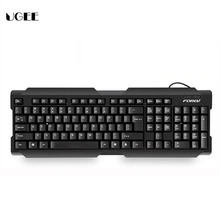 Classic Thin Mute Waterproof USB Wired Gaming Keyboard Standard Desktop Keyboard For Home Bussiness Computer XP MAC PC LOL DATA