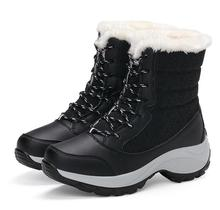 Snow Boots 2018 Classic Wedge Women Winter Boots Warm Fur Plush Insole Ankle Boots Women Shoes Hot Lace-up Shoes Woman