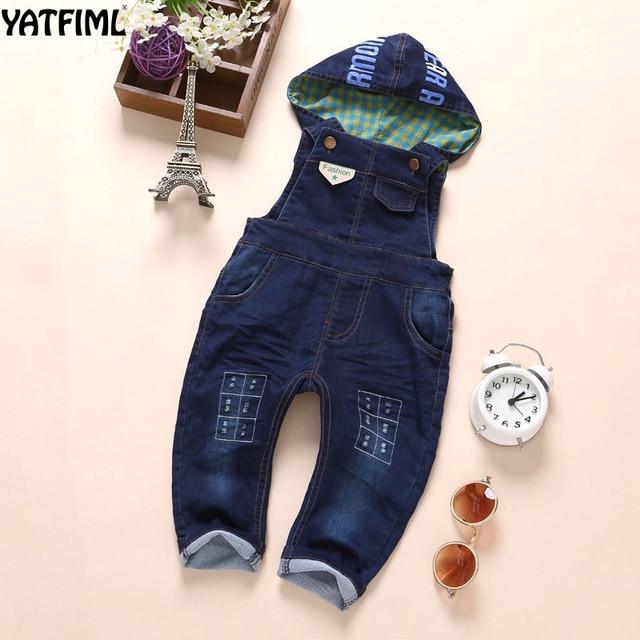 a3afcb821b242 YATFIML 2017 printemps bébé garçon fille Jeans combinaison haute qualité Denim  salopette bébé vêtements bébé vêtements