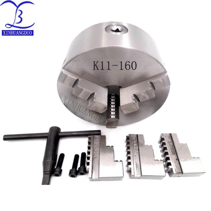 Mandrin à 3 mâchoires de K11-160/mandrin de tour manuel de 160 MM/mandrin auto-centrant à 3 mâchoires pour fraiseuse de forage de tour