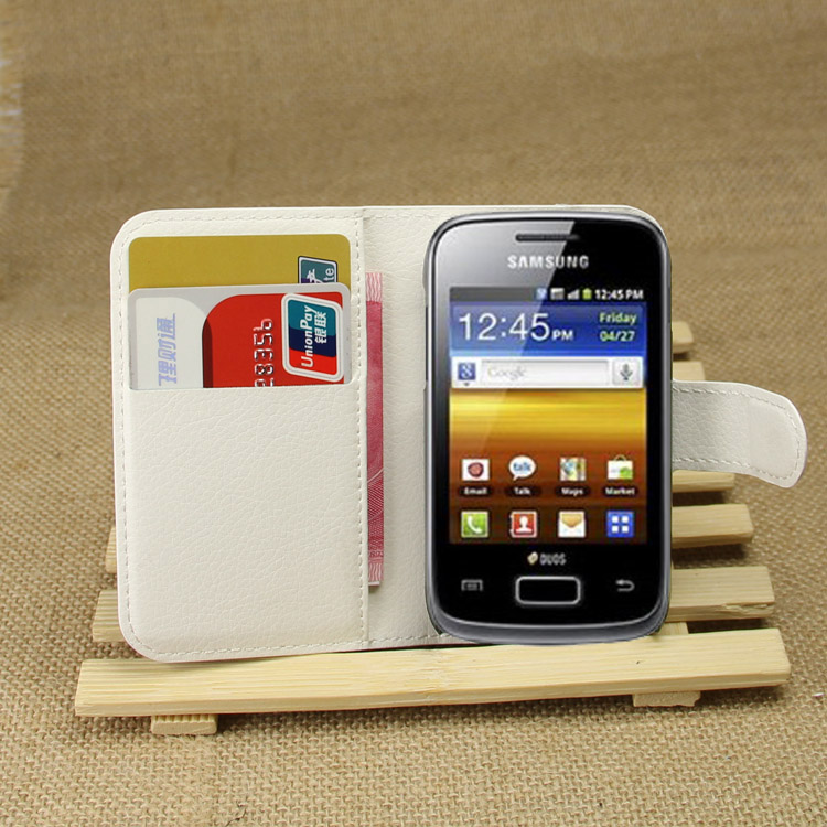 Fashion Wallet PU Leather Case Cover For Samsung Galaxy Yong S6310 Flip Protective Phone ...