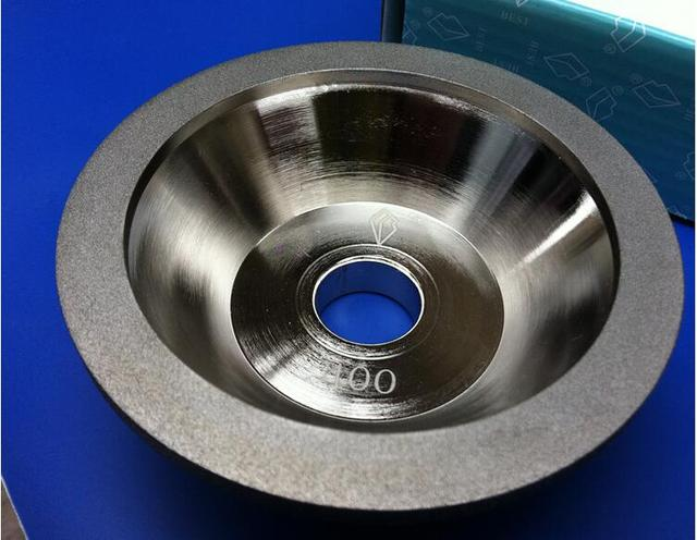Free shipping of 1pc high quality 400# 100D*10W*5U*20H*35T alloy wheel bowl diamond grinding wheel for alloy blade sharpening