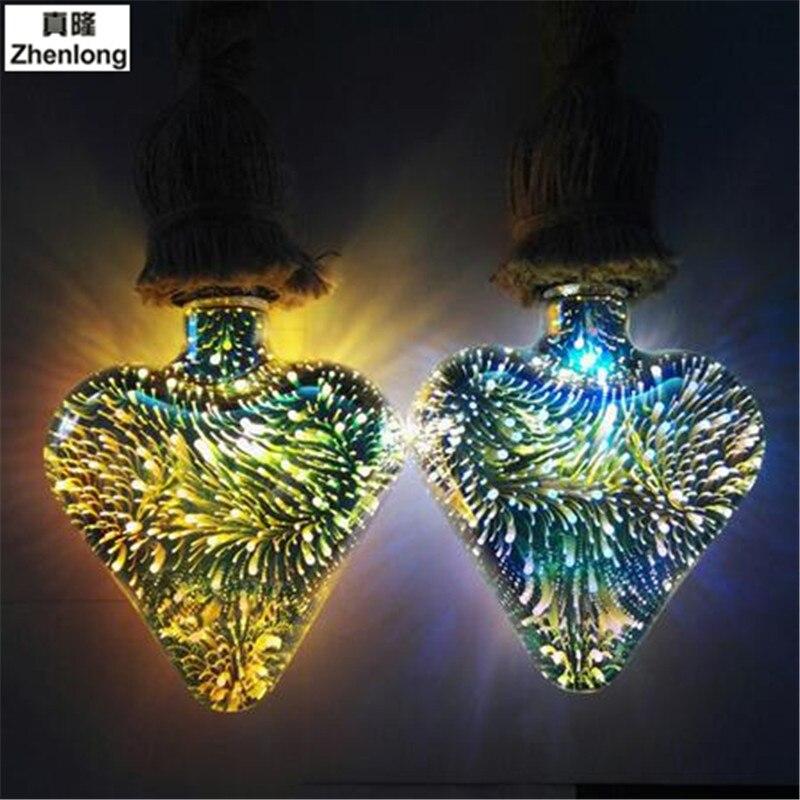 Magic Lights 3D Colorful Light Bulbs Firework Light E27 Bulb Led Energy Saving Lamp 3d Bulb 3.5w Light Bulb E27 Led Filament LED