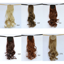2016fashion wrap on ponytail hair piece curly/wavy style claw drawstring clip in ribbon natural wave 14 colors on sale