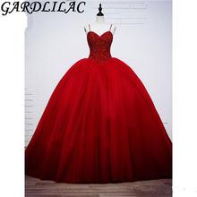 Gardlilac красное бальное платье на бретельках платья для quinceanera