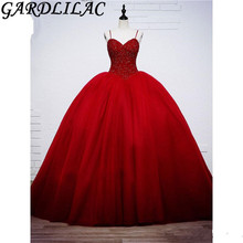 Gardlilac Red Spaghetti Strap Ball Gown Quinceanera dresses