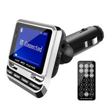 Bluetooth Car Kit Lettore MP3 Handsfree Senza Fili Trasmettitore FM Radio Adapter Caricatore USB Telecomando LCD Con La Scatola Al Minuto 2.0