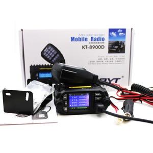 Image 5 - QYT KT 8900D VHF UHF راديو المحمول 2 طريقة راديو رباعية عرض ثنائي النطاق راديو سيارة صغيرة 25 واط اسلكية تخاطب KT8900D