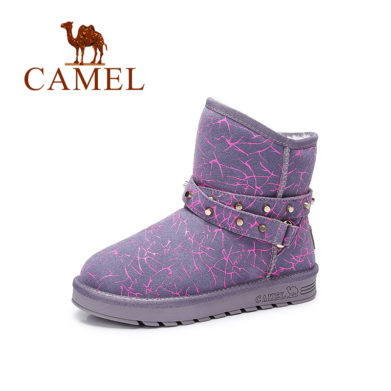 Camel Women's Boots New Fashion European Style Print Winter Snow Boots