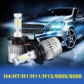 H4/H7/H1/H11/H13/9005/9006 Car LED Headlight Bulbs COB Hi-Lo Beam 72W 8000lm Auto Front Fog Light Pure White 6500K 12V 24V