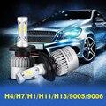 H4/H7/H1/H11/H13/9005/9006 Carro LEVOU Lâmpadas Dos Faróis COB Oi-Lo Feixe 72 W 8000lm Frente Auto Fog Light Pure White 6500 K 12 V 24 V
