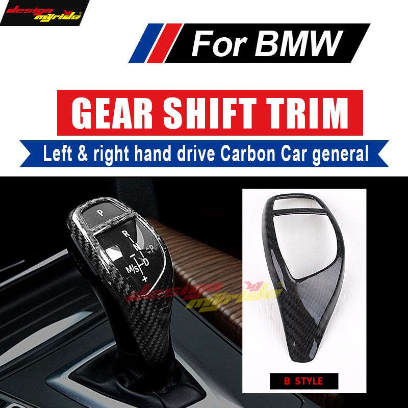 For BMW B Style X3 X4 F25 F26 Left Righthand drive Carbon Fiber car genneral Gear Shift Knob Cover Decorations Car styling B in Gear Shift Knob from Automobiles Motorcycles