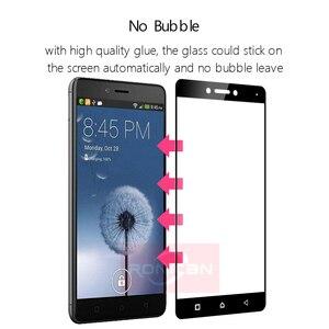 """Image 4 - Tam Kapak Temperli Cam Lenovo K6 Not Telefon Cam Ekran Koruyucu Için Lenovo k6 not K53a48 5.5 """"koruyucu film 2.5D 9 H"""