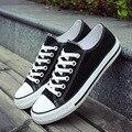 4 Clásico de Color Negro Hombres Zapatos de Lona Otoño Par de Tenis Calzado Informal Plana Equilibrio Calzado Zapatillas Hombre Mujer
