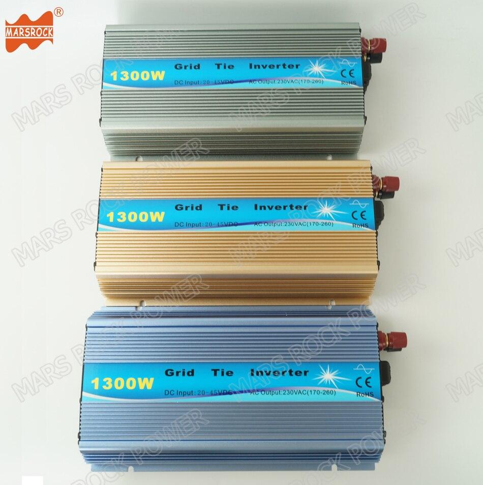 1300W do Laço Da Grade Inversor Solar, 18 V, 30 V, 36VDC, max 1500W de entrada de energia solar ou eólica, MPPT função, de alta qualidade, frete grátis!!