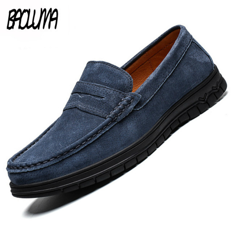 Classic Men Casual Shoes Man Summer Loafers Shoes Soft Moccasins High Quality   Leather   Outdoor Flats Gommino Driving Shoes 2019