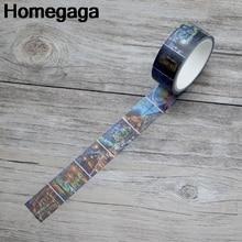 Homegaga Oil painting van gogh Pairs vintage funny album kids Washi tape diy Scrapbooking Adhesive Masking Printed sticker D2155