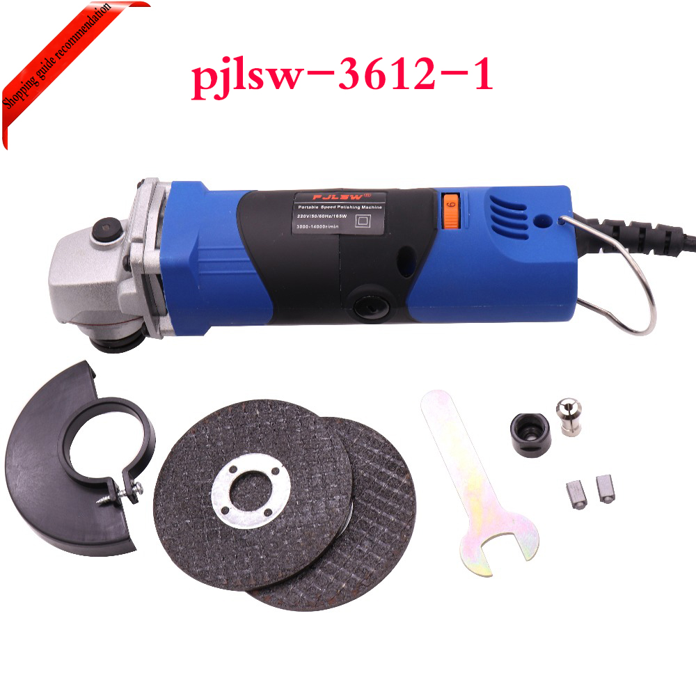 PJLSW 220V 165W Adjustable speed mini polishing machine angle grinder cutting machine multi-function grinding machine все цены
