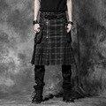 ПАНК RAVE Личность мужчины юбка со специальным дизайном