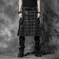 PUNK RAVE Personality men skirt with special design