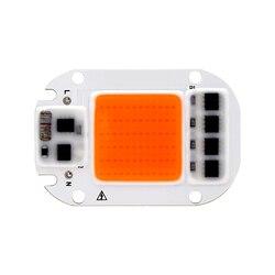Светодиодный чип для выращивания света 20 Вт 30 Вт 50 Вт 110 В 220 в полный спектр 380нм ~ 780нм лучший для гидропонная теплица для выращивания DIY свето...