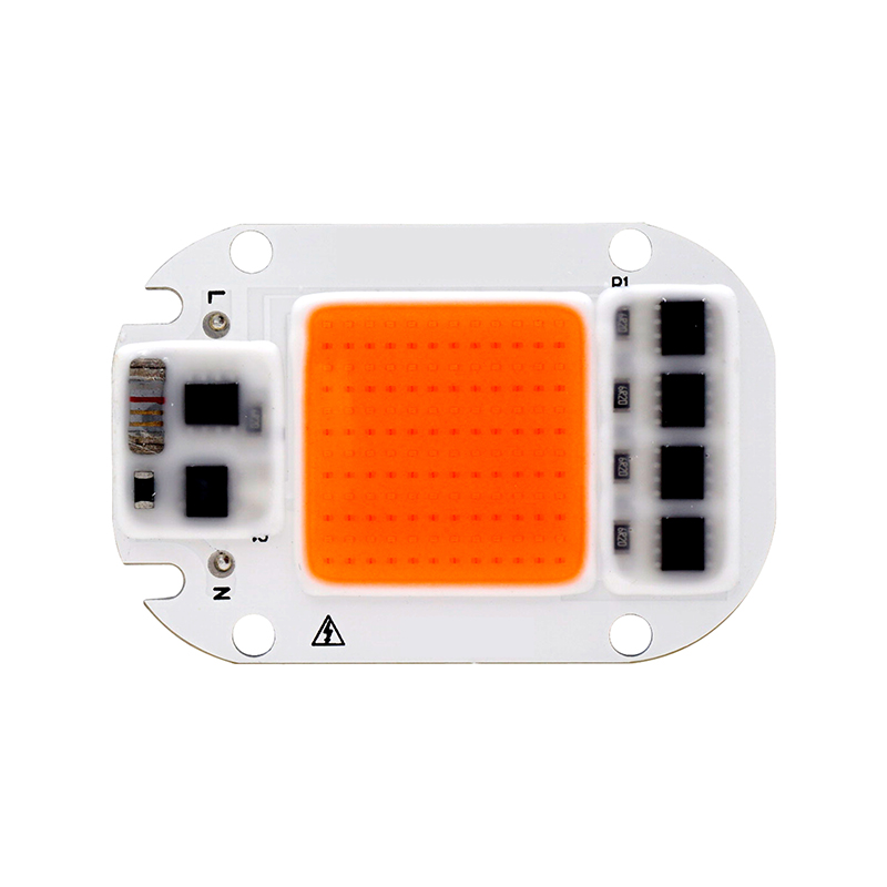 Led Grow Light Chip 20W 30W 50W 110V 220V Full Spectrum 380nm ~ 780nm Lo mejor para hidroponía Greenhouse Grow DIY para lámpara de crecimiento LED