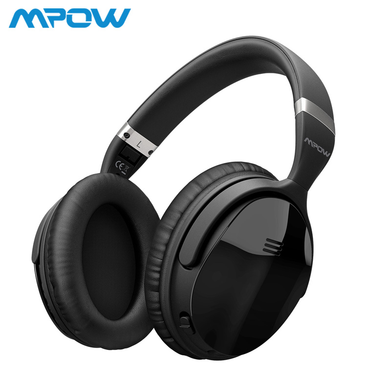 Mpow H5 ANC Actif Antibruit Sans Fil Bluetooth Casque Salut-fi Stéréo Casque Avec sac de Transport Pour iphone X Huawei Téléphone