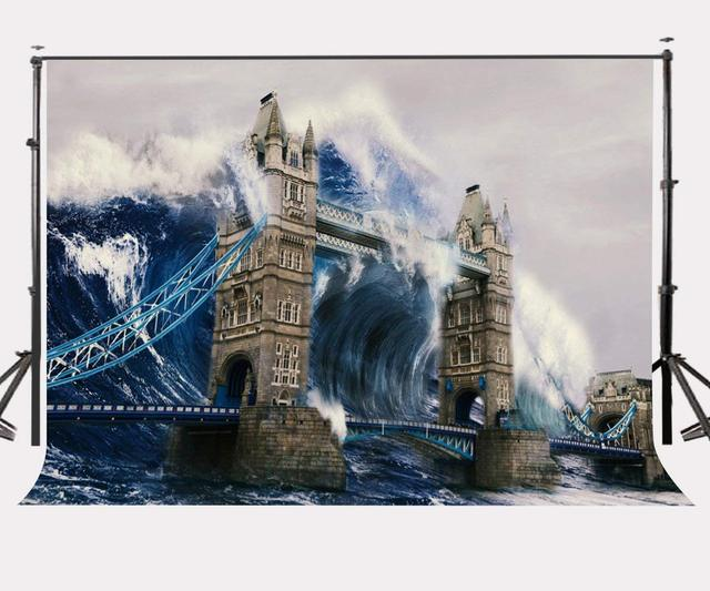 150x210cm amazing watercolor painting backdrop london bridge huge