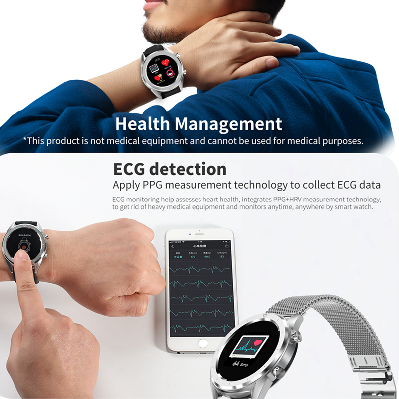 Hot Sale DTNO.I DT NO.1 DT28 ECG Detection Heart Rate Monitor Smart Watch IP68 Waterproof Activity Fitness Track Blood Pressure