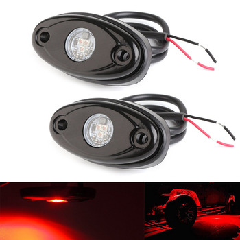 2/4/8PCS Single Color LED Rock Lights For Jeep ATV SUV Offroad Car Truck Boat LED Neon Lights Underglow Trail Rig Lamp image