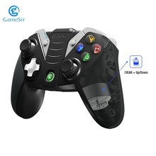 GameSir G4S Wireless Bluetooth Gamepad for Android TV BOX Smartphone Tablet VR Games Wired Controller for PC Game Pad Dual USB