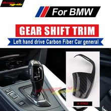 A-Style For BMW E60 F10 G30 Left hand drive car Carbon genneral Gear Shift Knob Cover 520i 528i 530i 533i 535i