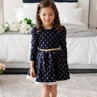Bebek Kız Giyim Setleri Noel Uzun Kollu Elbiseler Parti Kış Ruffled Kızlar Için Giysi Giysileri Gündelik Elbise CL0700
