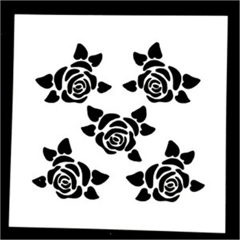 1 Pcs Reusable Rose Flower Shaped Airbrush Painting Stencils Scrapbooking Album Crafts image